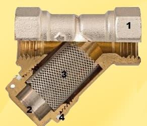 Конструкція косого сітчатого фільтра.